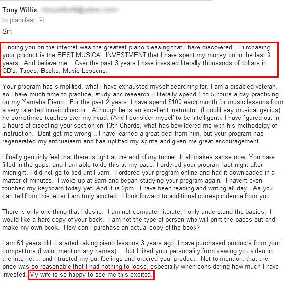 Tony Willis Testimonial